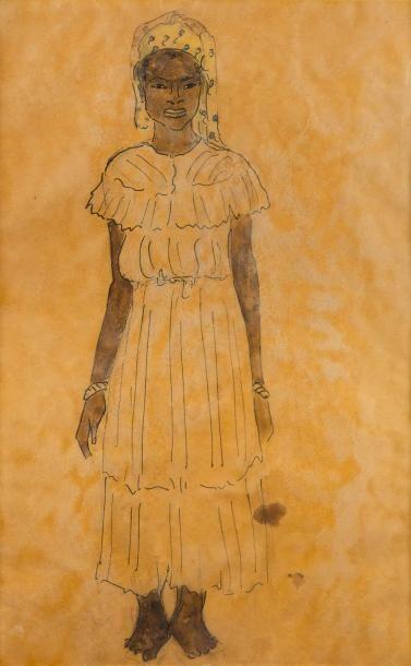 *Attribué à Jean LAUNOIS (1898 - 1942)  Femme...