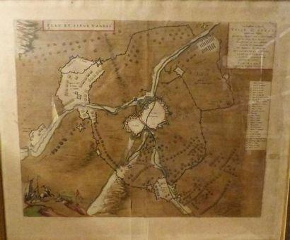 *BLAEU  Plan et siège d'Arras,  Vers 1762...