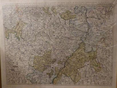 *Carte topographique  De la guerre du Rhin...