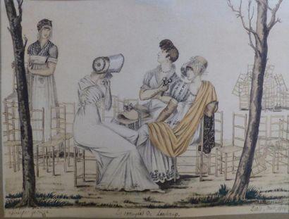 Ecole Française du XIXème siècle  Les Ennuyées...