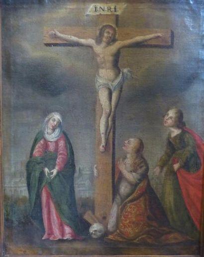 Ecole FRANCAISE vers 1630  La Crucifixion...