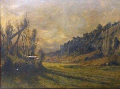 Gabriel LOPPE (1825-1913)  Le roc d'Ambrin...