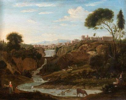 Attribué à Gaspare van WITTEL  (1653 - 1736)...