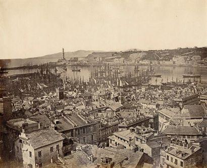Adolphe GODARD (act.1850-1870)  Gênes, vue...