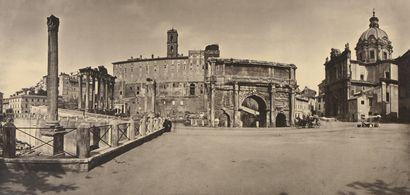 Adolphe BRAUN (1811-1877)  Panoramas, Italie...