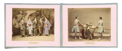 Japon  Types et scènes animées (22) : samouraï...