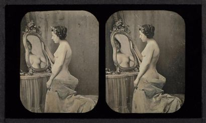 Auteur non-identifié  Nu au miroir, c. 1855...