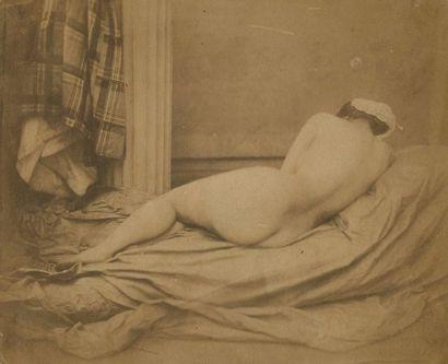 Auguste BELLOC (1800-1867)  Nu féminin allongé,...