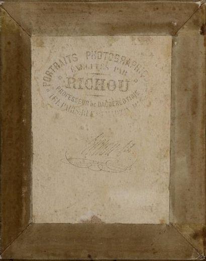 Louis-Noël Richou (1816-1895) La lettre, c. 1850 Daguerréotype 1/4 plaque, crédits...