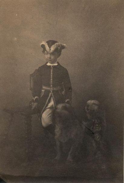 Le Prince Impérial  Ensemble de 16 photographies et divers documents :  - Léopold...