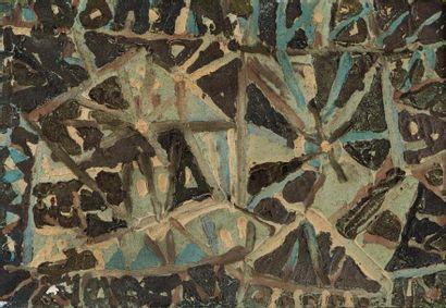 René RICHETIN (1923-2008)  Compositions  Lot de 15 œuvres  Technique mixte sur bois...