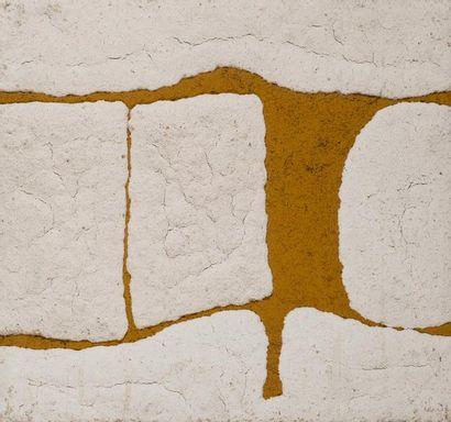 René RICHETIN (1923-2008)  Composition, 1975  Technique mixte sur panneau  48 x 52...