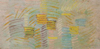 René RICHETIN (1923-2008)  Compositions  Lot de 20 œuvres  Techniques mixtes sur...