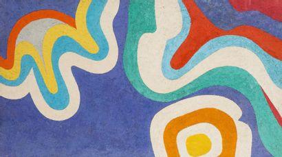 René RICHETIN (1923-2008)  La danse à la lune, 1970  Technique mixte sur panneau...