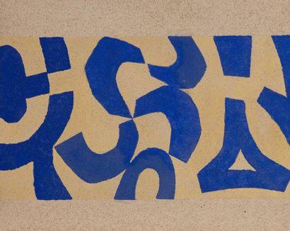 René RICHETIN (1923-2008)  Composition, 1970  Technique mixte sur panneau  51 x 63...