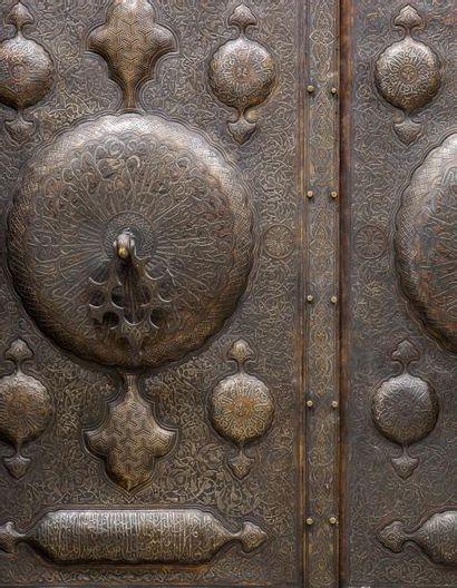 Porte monumentale  au chiffre de Mahmud II...