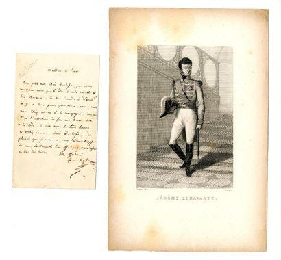 BONAPARTE (Jérôme, 1784 – 1860, Prince d'Empire...
