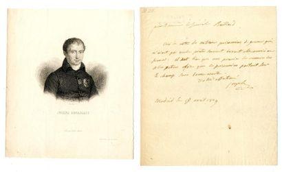 BONAPARTE (Joseph, 1768 – 1844, Prince d'Empire,...