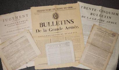 Affiches - Journaux. - Bulletins de la Grande...