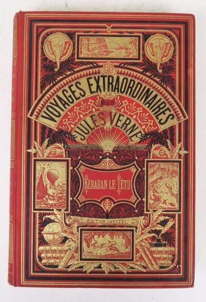 VERNE (Jules). Kéraban-le-têtu. Paris, Hetzel, sd (cat. BR 1883).  Cartonnage aux...