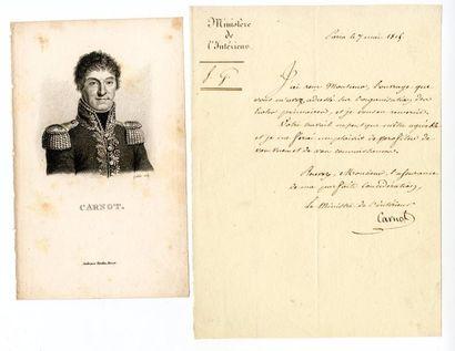 CARNOT (Lazare, 1753 – 1823, mathématicien,...