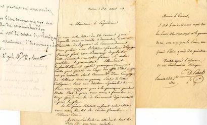 [Généraux]. 7 autographes des Généraux Ordener,...