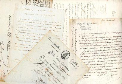 [Généraux]. 7 autographes des Généraux Drouot,...