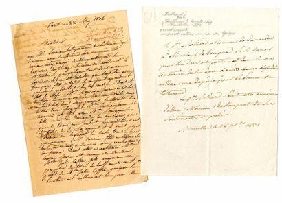 [Généraux]. 3 autographes des Généraux Belliard,...