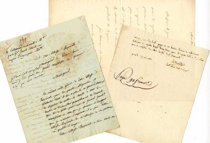 [Généraux]. 7 autographes des Généraux Brayer,...
