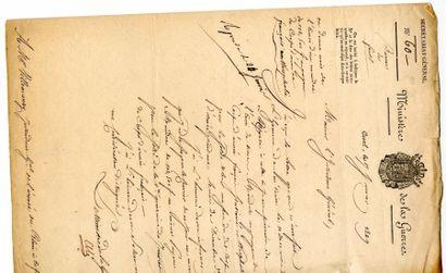 [Généraux]. 3 autographes des Généraux Charpentier,...