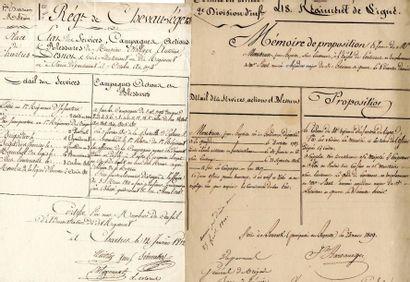 [Généraux]. 4 autographes de Dermoncourt,...