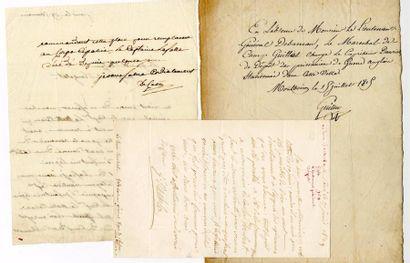 [Généraux]. 6 autographes des Généraux Fressinet,...