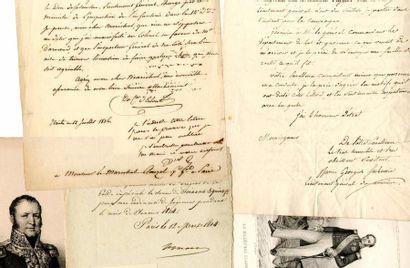 [Généraux]. 6 autographes des Généraux Ornano,...