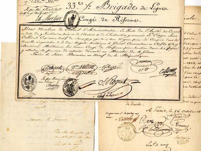 [Généraux]. 3 autographes des Généraux Pellet,...