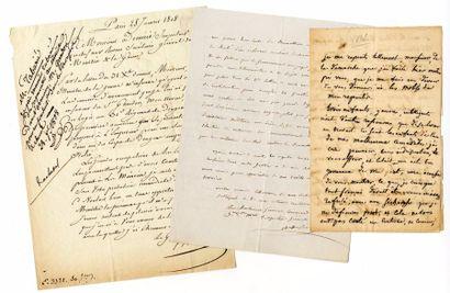 [Généraux]. 5 autographes des Généraux Simmer,...