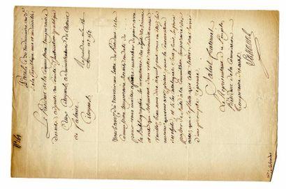 LAKANAL (Joseph, 1762-1845, Homme politique)....