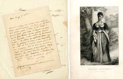 BONAPARTE (Pauline, 1780 – 1825, Princesse...