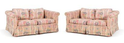 Paire de canapés modernes à deux places H:...