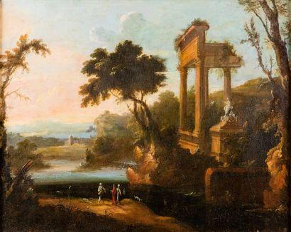 Ecole ITALIENNE du XVIIIème siècle, dans le gout de Claude LORRAIN