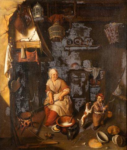 Ecole HOLLANDAISE du XIXème siècle, dans le goût de Gabriel METSU
