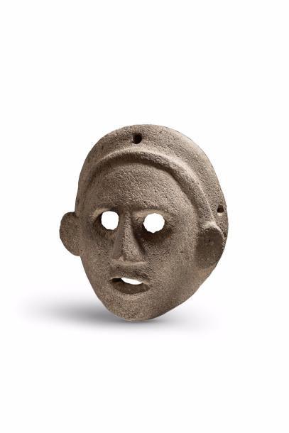 Masque à la coiffe  Masque cultuel présentant...