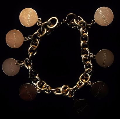 Bracelet à maille jaseron en or jaune 18...