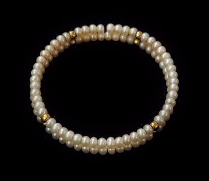 Bracelet semi-rigide composé de perles de...