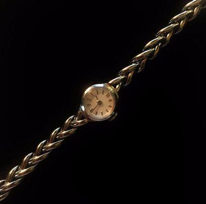 Montre bracelet de dame en or gris 18 K (750...