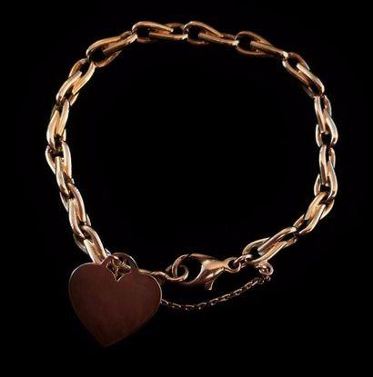 Bracelet en or jaune 18 K (750 °/°°) à maille...