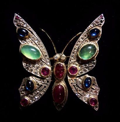 Broche trembleuse Papillon transformable...