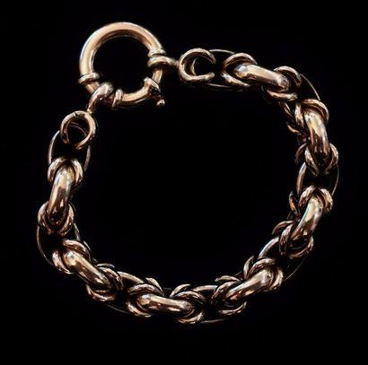 Bracelet en or jaune 18 K (750 °/°°)  Poids...