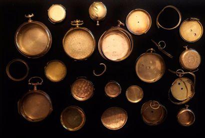 Un lot de montures et éléments de montres...
