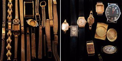 Lot de montres et éléments de montres en...