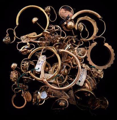 Lot de bijoux en or jaune et rose 18 K (750...